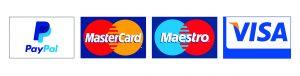 PayPal, Visa, MasterCard, Maestro accepted
