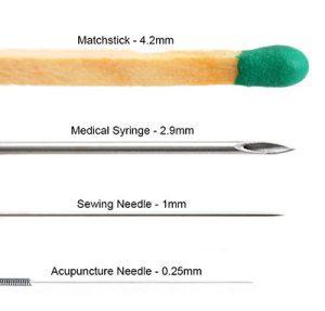 Acupuncture Needle Size Comparison